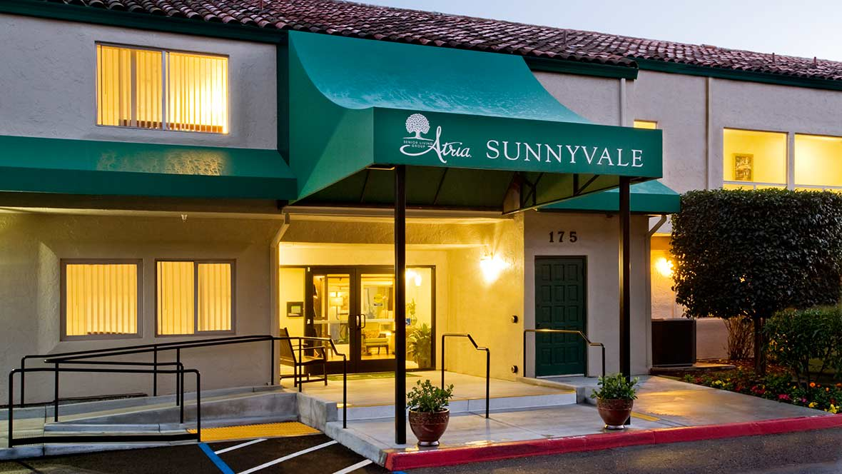 Atria Sunnyvale Community Entrance