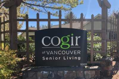 Cogir of Vancouver Senior Living Community Sign