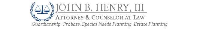 John B Henry, III, Attorney and Counselor at Law
